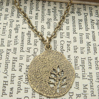 Charming  Tree Brass Necklace
