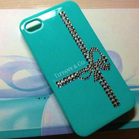 iPhone 4 and iPhone 4S Tiffany &amp; Co. Designer Swarovski Crystal Bling Case
