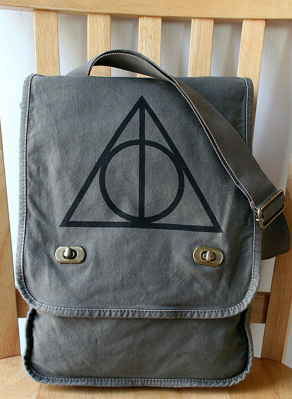 Harry Potter Deathly Hallows Canvas Field Bag
