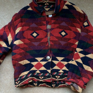 Vintage Painted Pony Tribal Coat