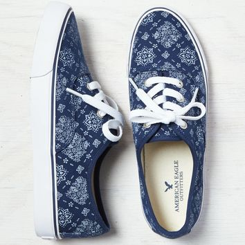 AEO Lace-Up Sneaker, Indigo | American Eagle Outfitters
