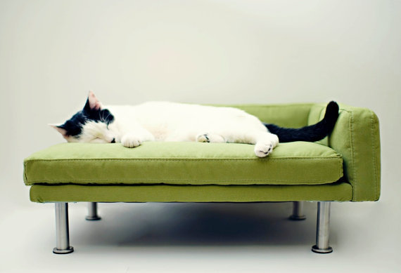 modern pet bed chaise lounge chair cat from modpet on etsy