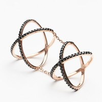 Free People Double Crossed Ring
