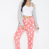 Plush Polka Dot PJ Pants