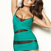 Criss-Cross Mesh Chemise