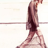 FOR LOVE AND LEMONS Wednesday Mesh Maxi Skirt<br />$108