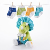 Baby Aspen Tricerasocks Plush & Socks Set - Baby