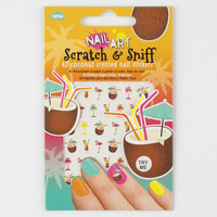 Coconut Scratch & Sniff Nail Stickers 253626957 | Stickers