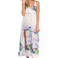 Biscuit Maxi Dress- Mix White