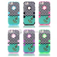 For iPhone 6 Wave Anchor Silicone +PC 4.7 Inch Case Cover - DinoDirect.com