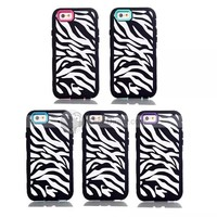 For iPhone 6 Fasion Zebra point Silicone +PC 4.7 Inch Case Cover - DinoDirect.com