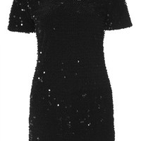 Flocked Sequin Bodycon Dress - Bodycon Dresses - Dresses - Clothing