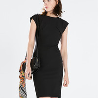 Technical fabric bodycon dress