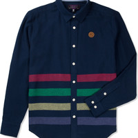 Mishka Navy Broadway Button-Up Flannel Shirt | HYPEBEAST Store. Shop Online for Men's Fashion, Streetwear, Sneakers, Accessories