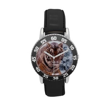 Amur TigerBlack Numbered Bezel and Strap Watch