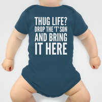 Thug Life or a Hug? (White Art) Onesuit by CreativeAngel | Society6