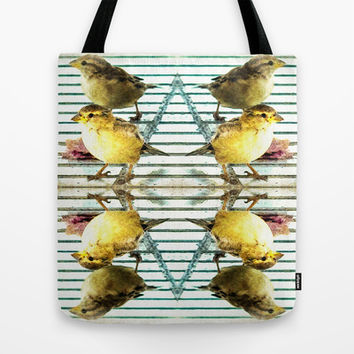 Birds Of A Feather Tote Bag by Louisa Catharine Forsyth