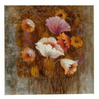 "Crestview Poppy On Gallery Wrap Canvas - 40"" x 40"" - CVBWE897"