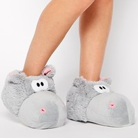 New Look Nippo Hippo Novelty Slippers