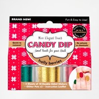 Elegant Touch Candy Dip Nail Set - Holly Berries