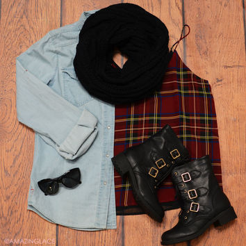 Mad For Plaid Fashion Outfit – Amazing Lace