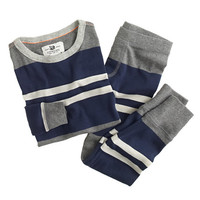 BOYS' LONG-SLEEVE RIBBED PAJAMA SET