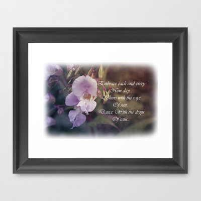 Summer Flowers, Vintage + verse. Framed Art Print by Louise Wagstaff | Society6