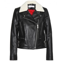 victoria beckham denim - joan leather biker jacket