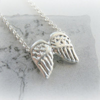 Baby Angel Wings necklace Sterling silver