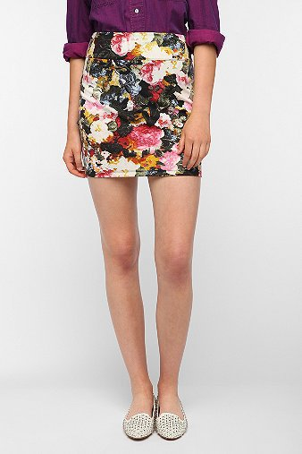 Silence &amp; Noise High-Rise Printed Skirt