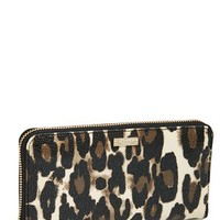 kate spade 'cedar street - leopard lacey' zip around wallet | Nordstrom