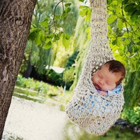 Hanging Pod Cocoon Stork Pouch Photo Prop by Monarchdancer