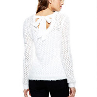 Pointelle Eyelash Sweater