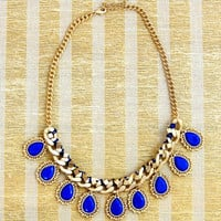 Calypso Dangle Necklace in Blue -  $30.00 | Daily Chic Accessories | International Shipping