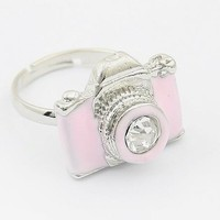 Pink Camera Adjustable Ring