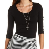 Scoop Neck Cotton Crop Top by Charlotte Russe