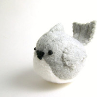 Handmade Pudgy Tufted Titmouse Stuffed Animal by bubbletime