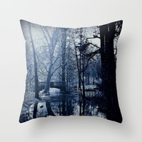 Reflective Thoughts In Parco Sempione Throw Pillow by Louisa Catharine Forsyth #society6