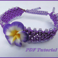 Macrame Bracelet Tutorial & Material - DYI - Choose your colours