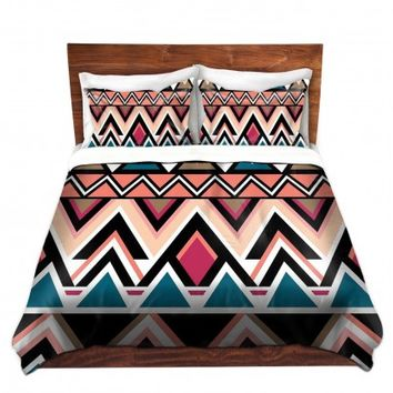 DiaNoche Designs Unique Decorative Designer Duvet Covers and Shams | Organic Saturation's Mountain Nativo Tribal