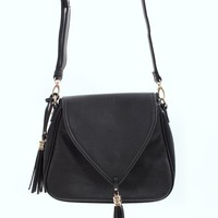 Black Tassel Handbag | Morocco Handbag by Urban Expressions | MessesOfDresses.com