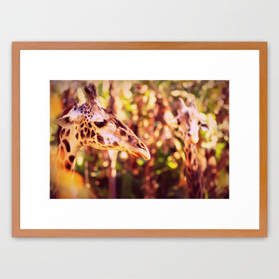 abstract with two giraffes Framed Art Print by Marianna Tankelevich | Society6