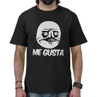me gusta rage meme comic face shirts from Zazzle.com