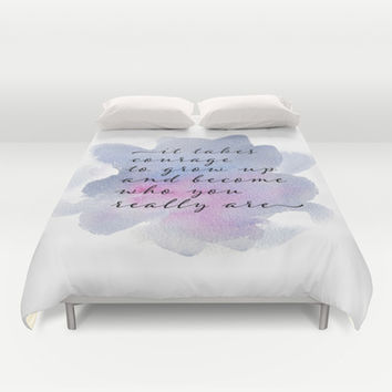 it takes courage Duvet Cover by Sylvia Cook Photography