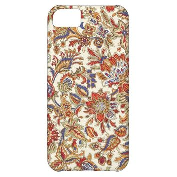 Vintage Abstract Floral Pattern iPhone 5C Case