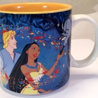 Collectible Walt Disney Company POCAHONTAS Ceramic 1990's Coffee Tea Mug Cup