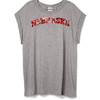 University of Nebraska Bling Tee - PINK - Victoria's Secret