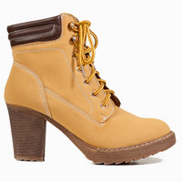 Worker Chic Lace Up Booties $68