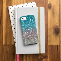 Lisa Argyropoulos Aqua And Gray Cell Phone Case
