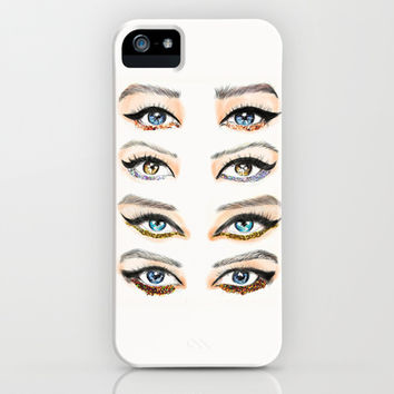 Glitter Eye Lines iPhone & iPod Case by Sara Eshak